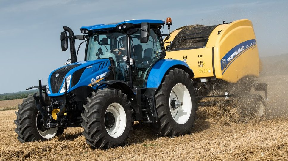 A New Holland tractor