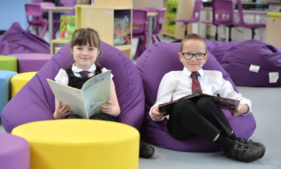 """Inside the new Hilltop Primary School in Airdrie, a """"stunning"""" £17 million development that was created following the merger of Dunbrobin and Petersburn Primaries. The building also includes a nursery and a Language and Communication Support Centre."""