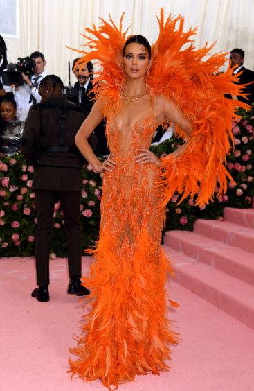 Kendall Jenner attending the Metropolitan Museum of Art Costume Institute Benefit Gala 2019 in New York, USA.