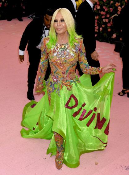 Donatella Versace attending the Metropolitan Museum of Art Costume Institute Benefit Gala 2019 in New York, USA.