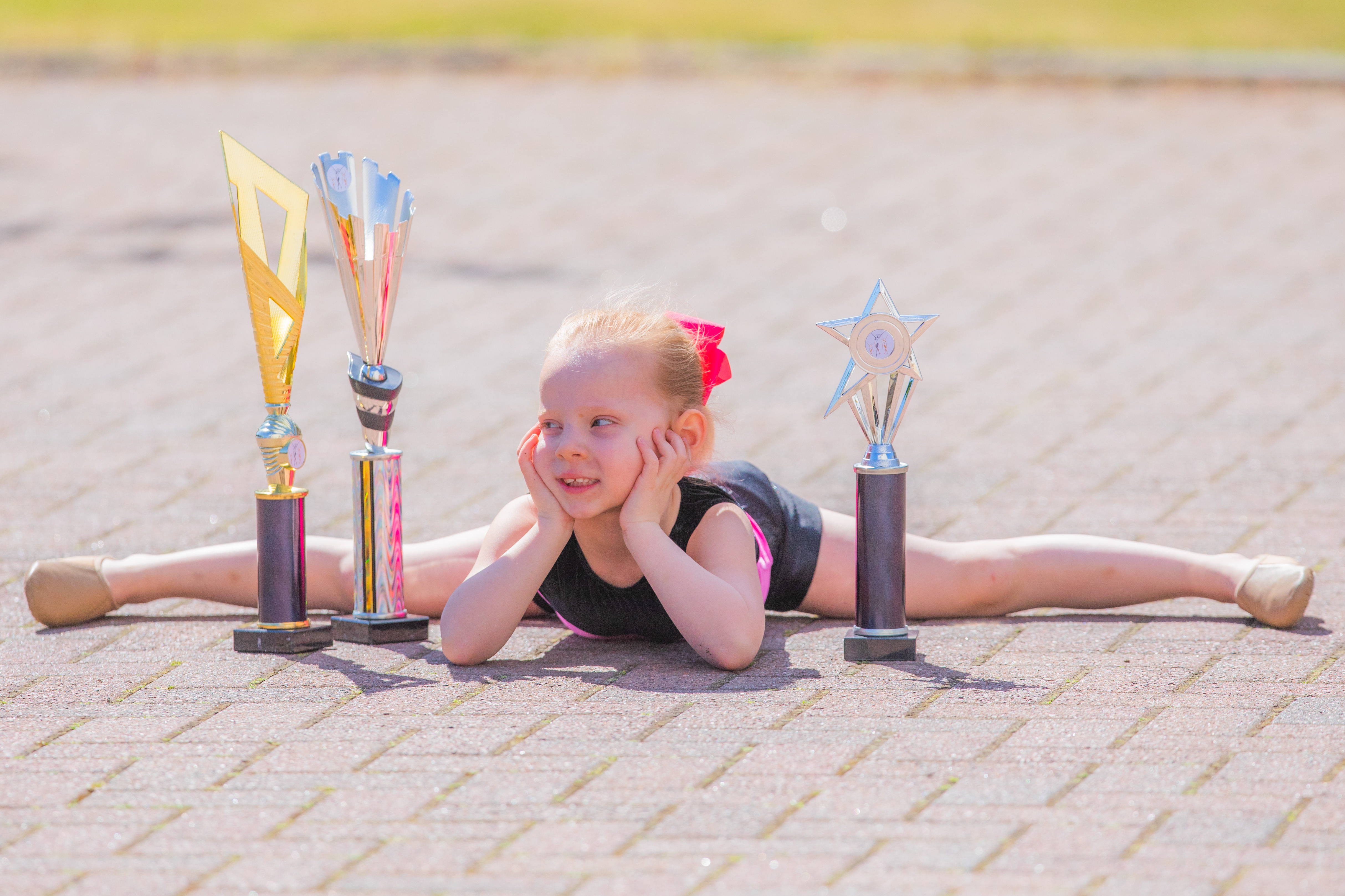 Ella Bloice with her recent trophies.