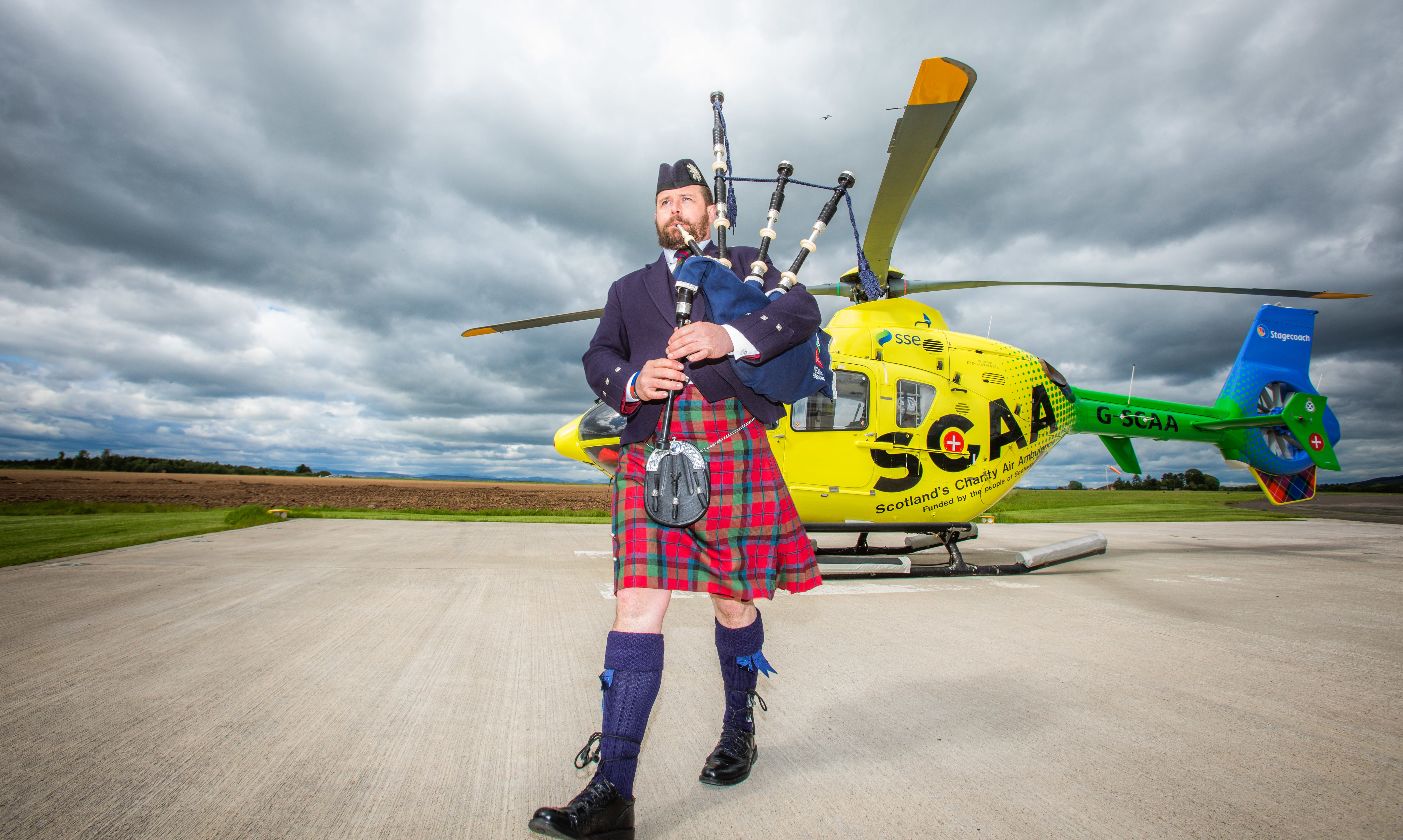 Piper Ross McNaughton from Pitlochry has composed a tune specifically for SCAA.