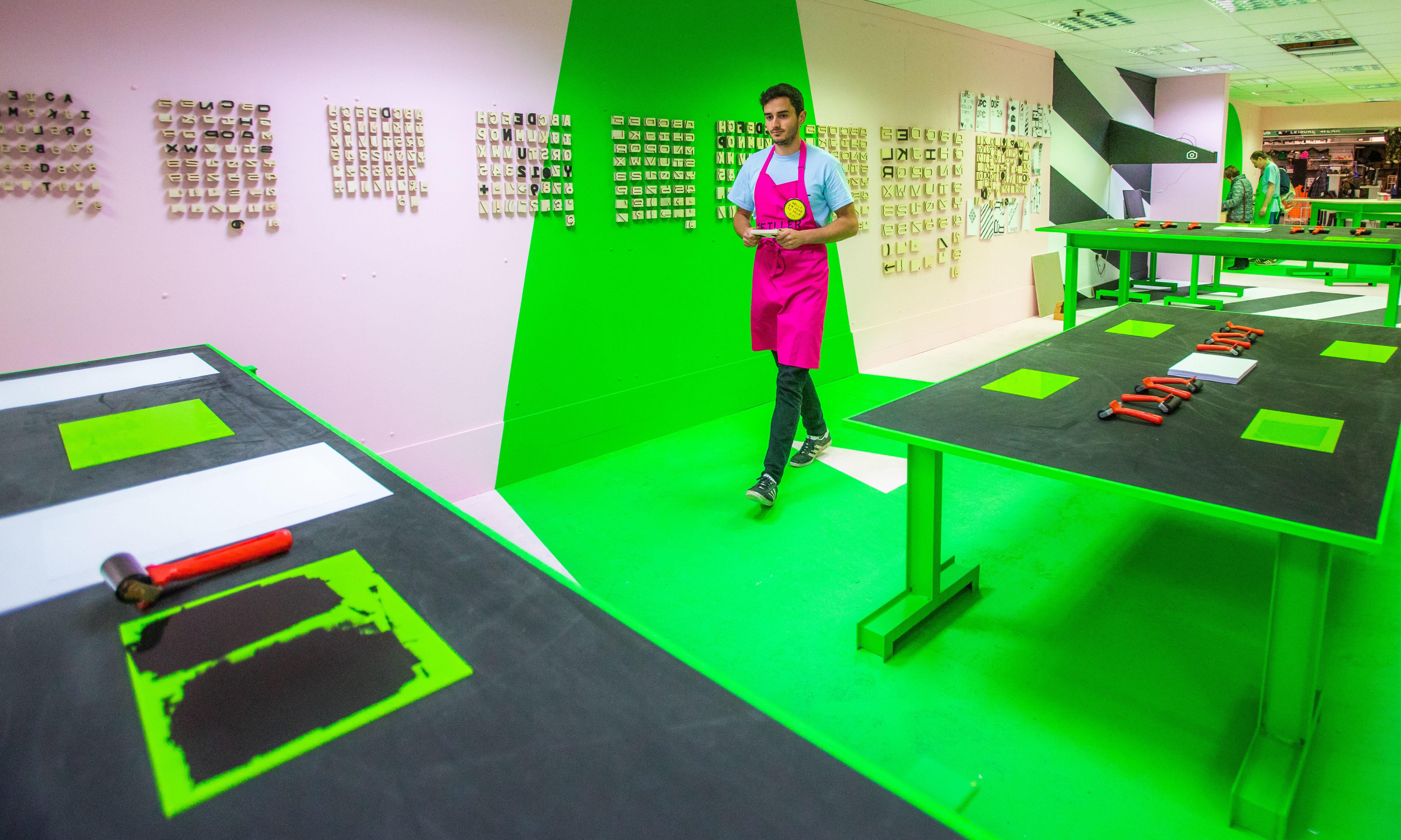 Renato Costa in the 'printing blocks' unit of the Keiller Centre.