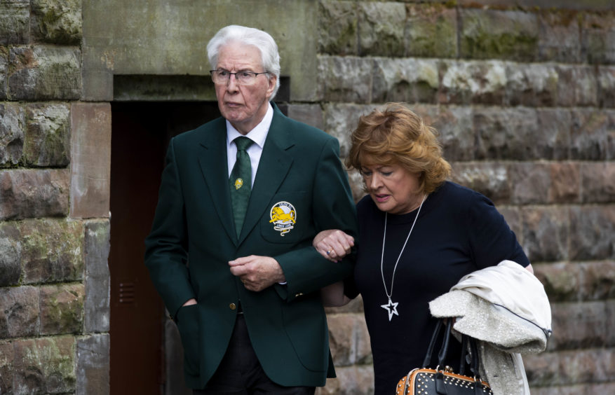 Lisbon Lion Jim Craig arrives at the funeral of Celtic's legendary European Cup winning captain Billy McNeill