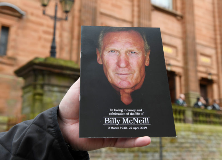 The order of service for the funeral of Billy McNeill