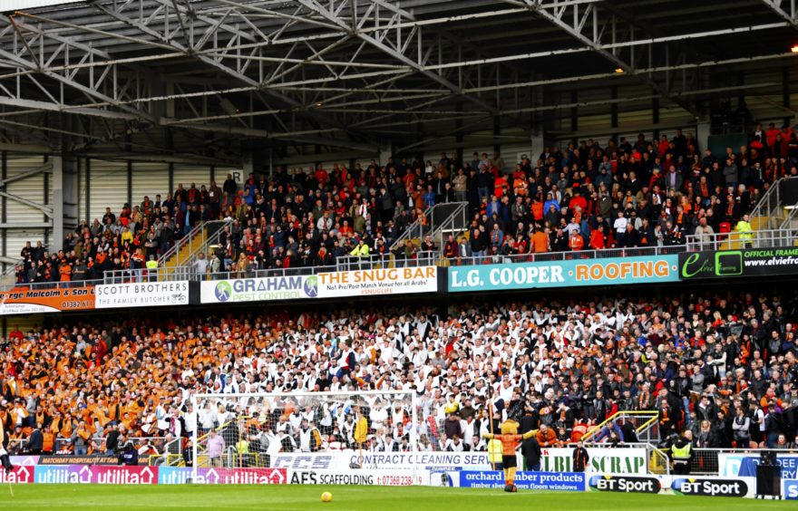 A near capacity crowd packed into Tannadice for United's biggest game of the season.