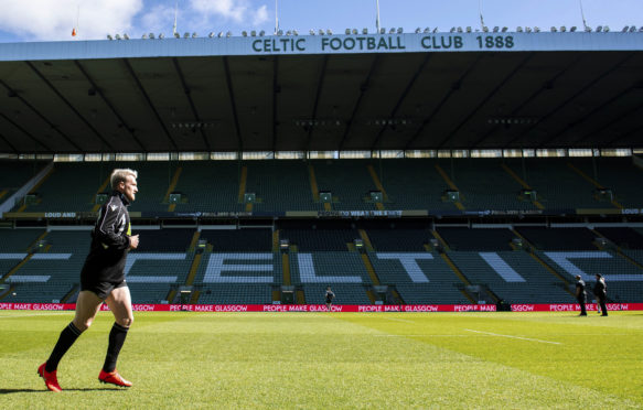Glasgow Warriors' Stuart Hogg at Celtic Park yesterday.