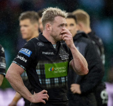 Stuart Hogg struggles with his emotions at the end of the PRO14 final.