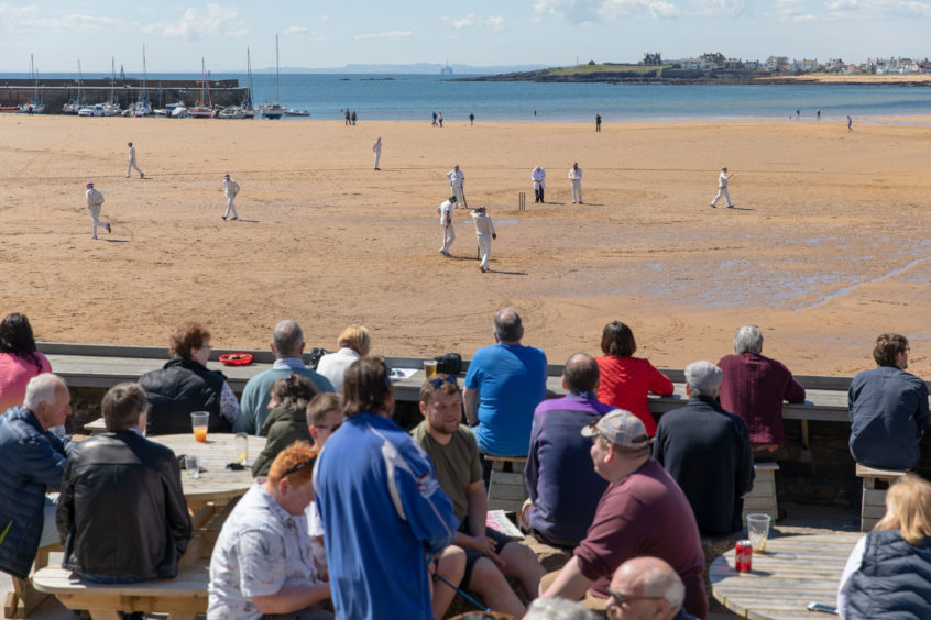 The Ship Inn CC Vs The Borderers match as the 1st match of the season begins in Elie.