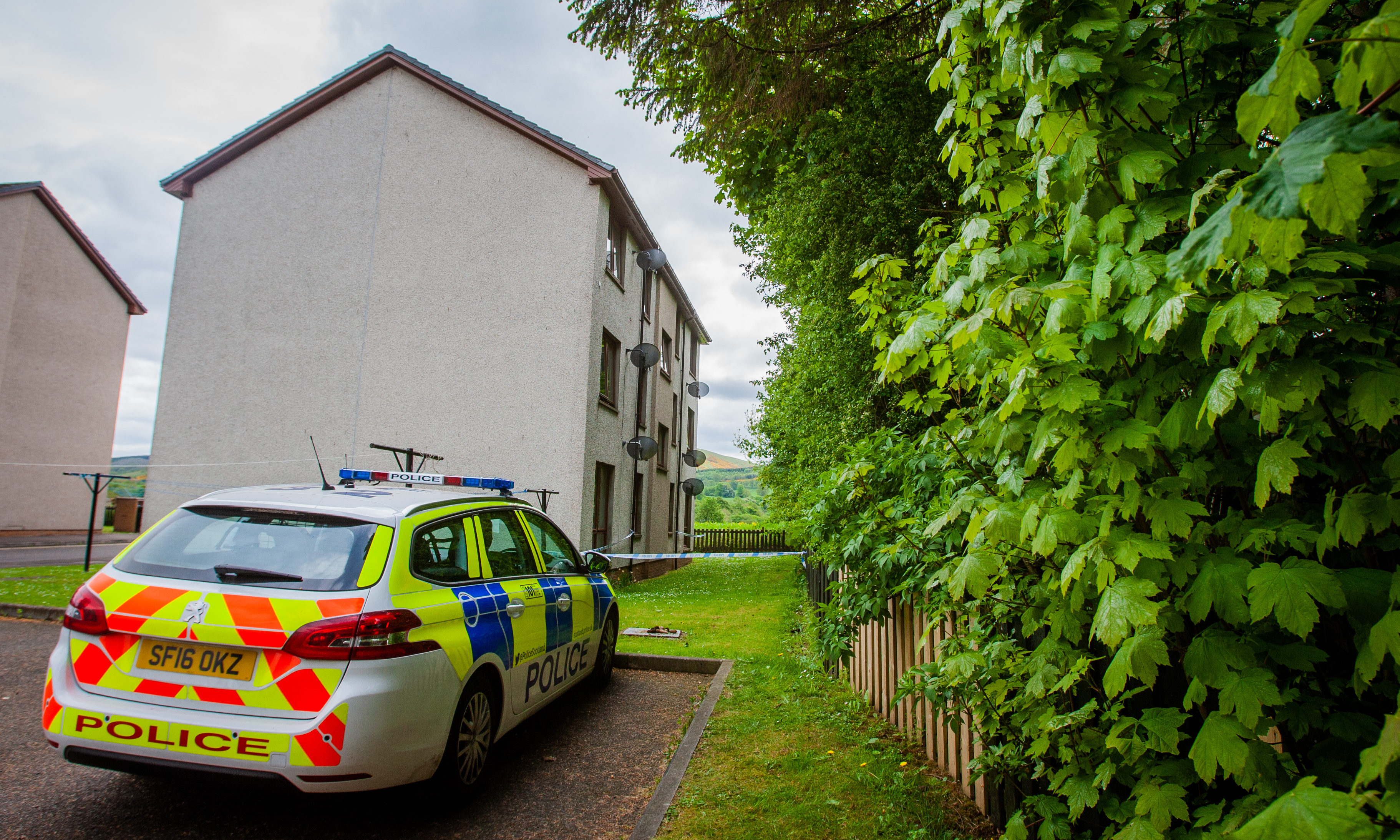 Police at Ruthven Park, Auchterarder in May 2018.