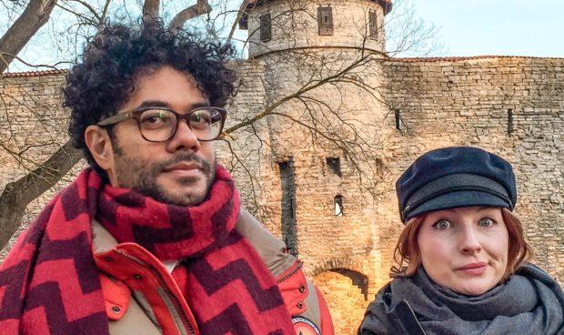 Richard and Alice in Tallinn.
