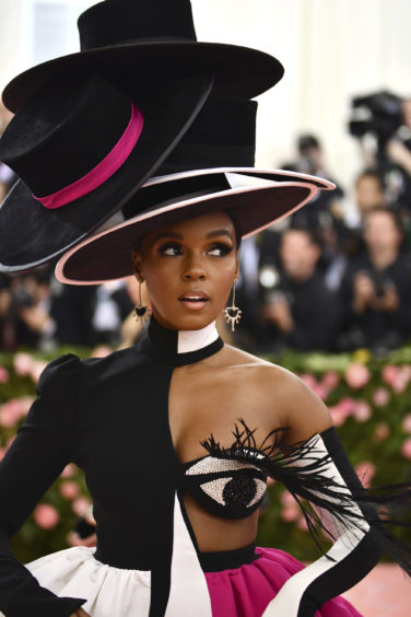 """Janelle Monae attends The Metropolitan Museum of Art's Costume Institute benefit gala celebrating the opening of the """"Camp: Notes on Fashion"""" exhibition on Monday, May 6, 2019, in New York."""