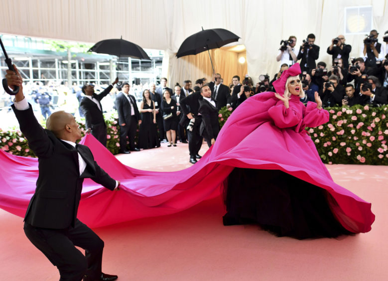 """Lady Gaga attends The Metropolitan Museum of Art's Costume Institute benefit gala celebrating the opening of the """"Camp: Notes on Fashion"""" exhibition on Monday, May 6, 2019, in New York. ("""
