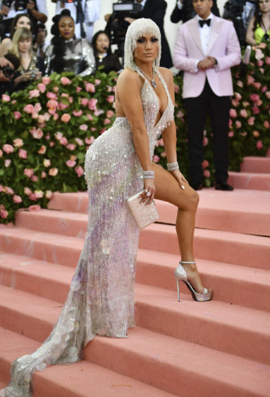 """Jennifer Lopez attends The Metropolitan Museum of Art's Costume Institute benefit gala celebrating the opening of the """"Camp: Notes on Fashion"""" exhibition on Monday, May 6, 2019, in New York."""