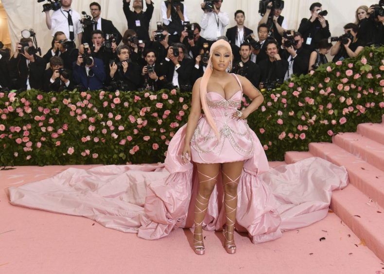 """Nicki Minaj attends The Metropolitan Museum of Art's Costume Institute benefit gala celebrating the opening of the """"Camp: Notes on Fashion"""" exhibition on Monday, May 6, 2019, in New York."""