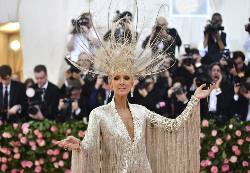 """Celine Dion attends The Metropolitan Museum of Art's Costume Institute benefit gala celebrating the opening of the """"Camp: Notes on Fashion"""" exhibition on Monday, May 6, 2019, in New York."""