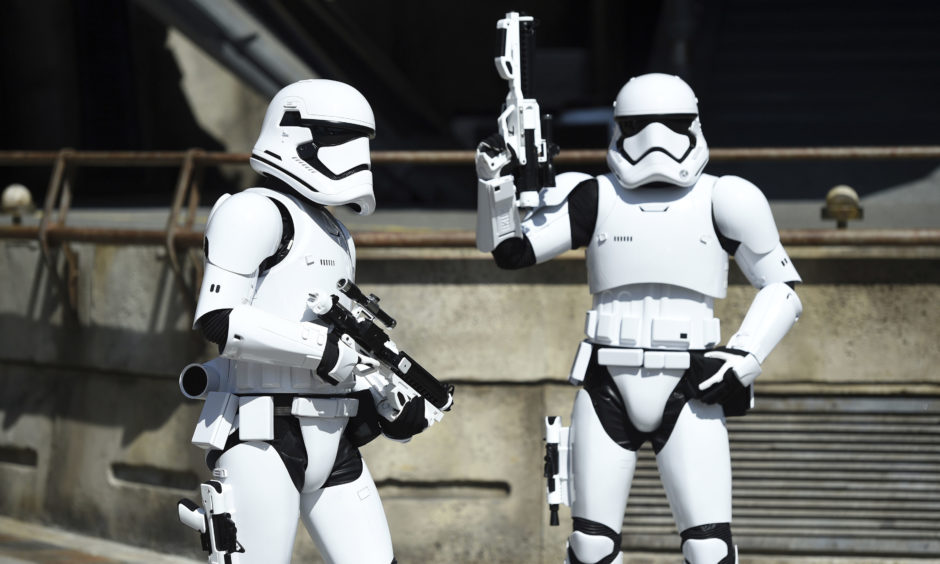 Stormtroopers watch over the Tie Echelon Stage.