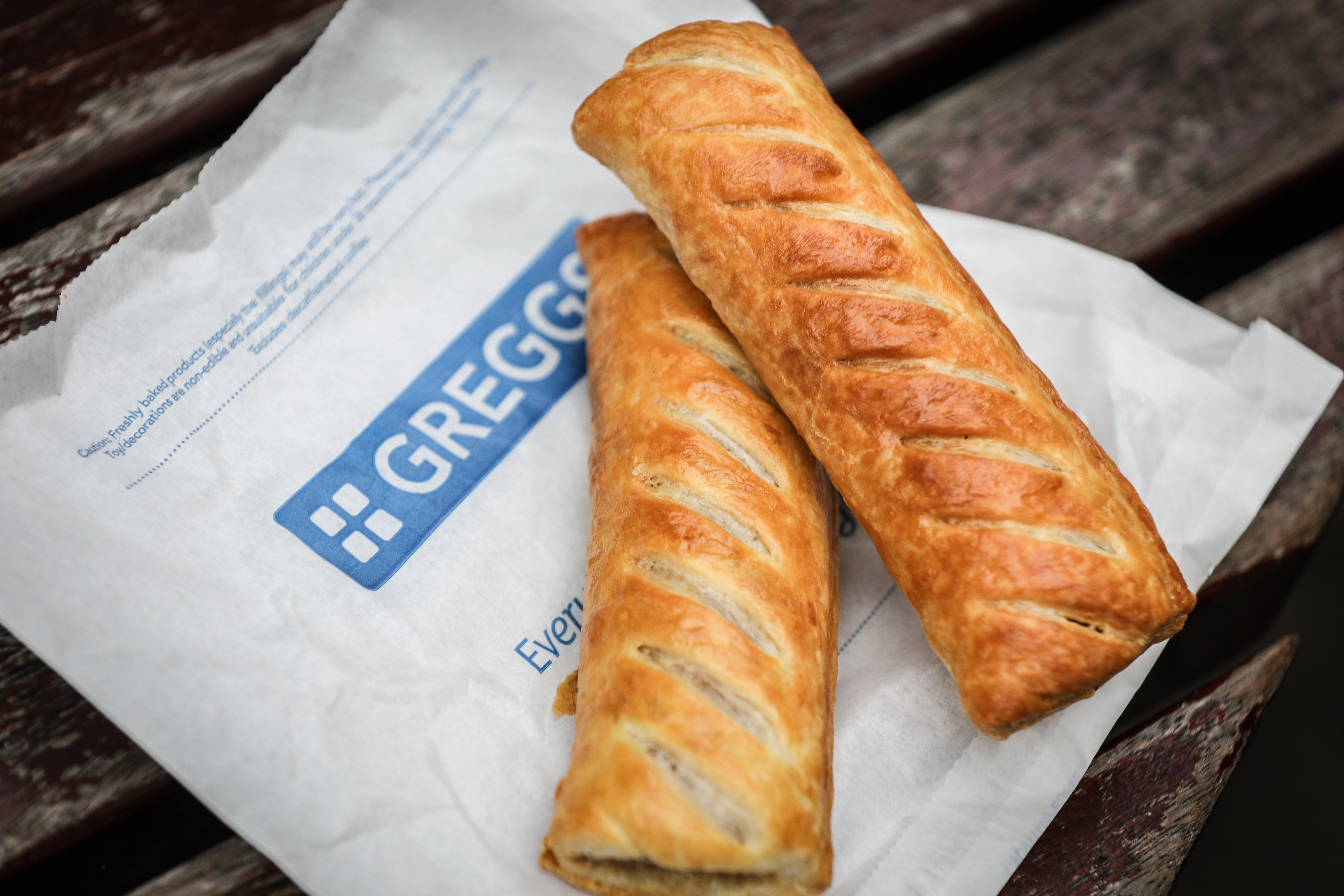 Vegan Sausage Rolls from Greggs.