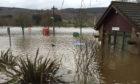 Flooding in Aberfeldy following Storm Frank in December 2015.