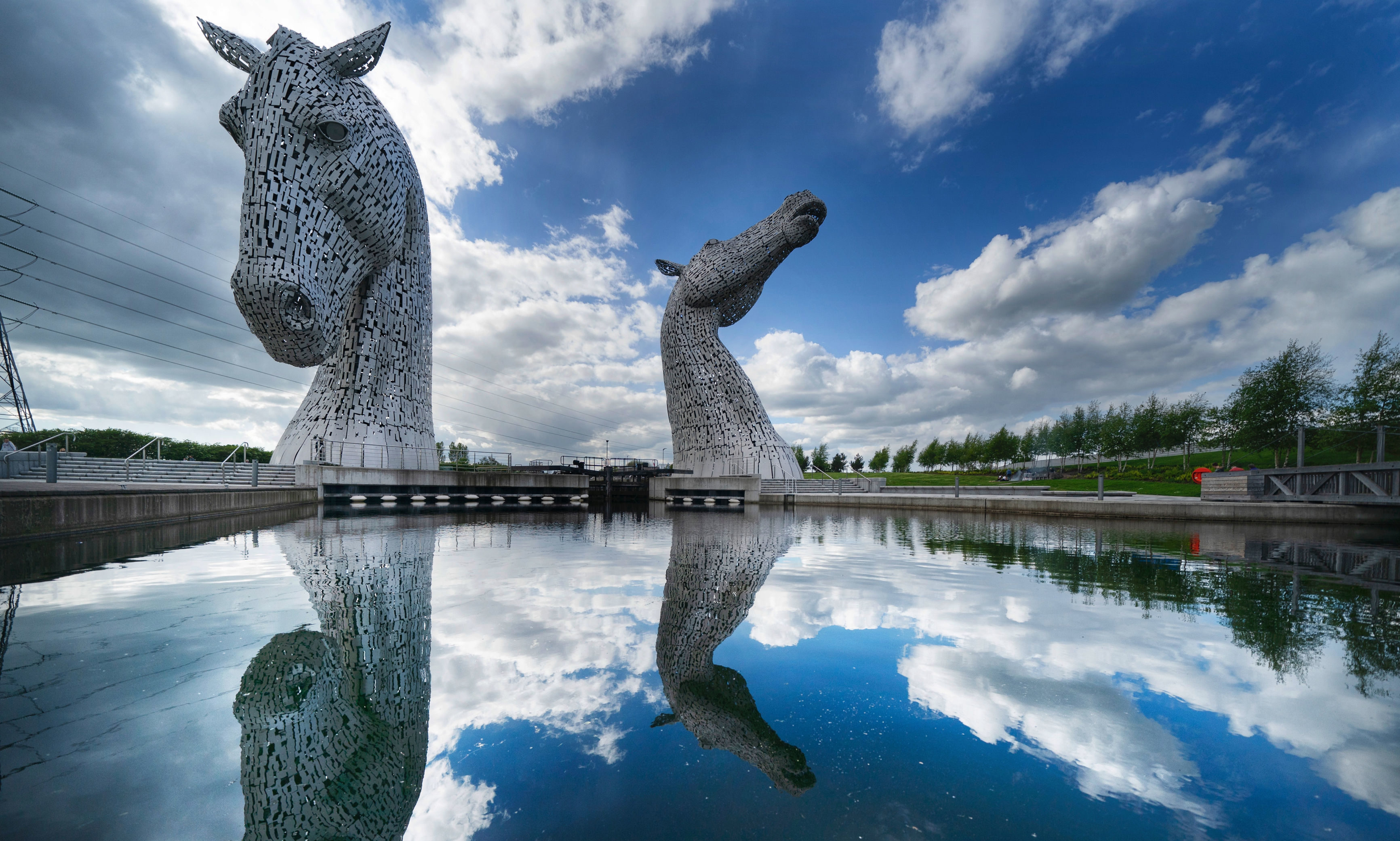 The Kelpies in Falkirk