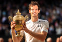 Andy Murray with the Wimbledon trophy in 2016.