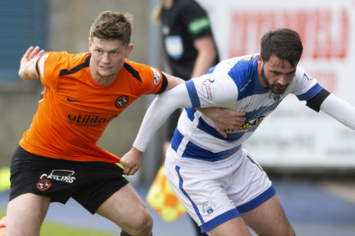 Cammy Smith in action against Morton.