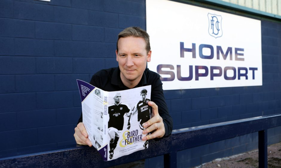 Graeme Strachan with his new Dundee FC book.