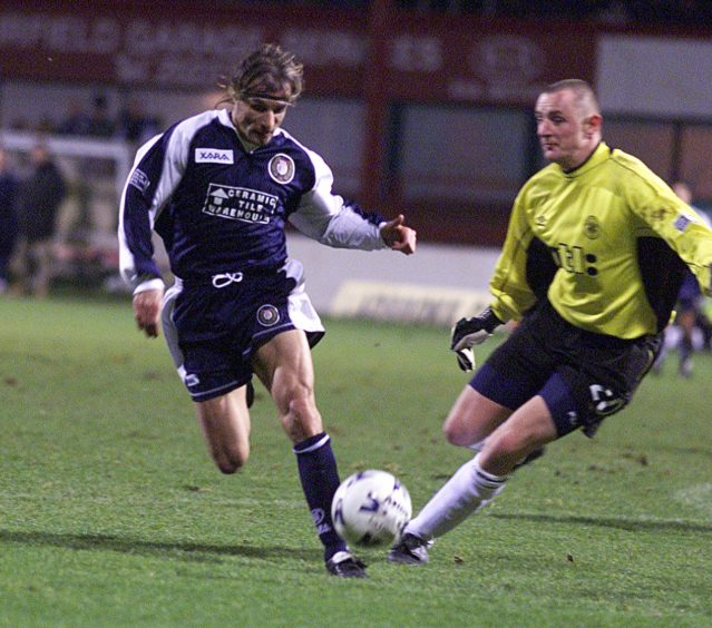 Caniggia up against Courier columnist Rab.