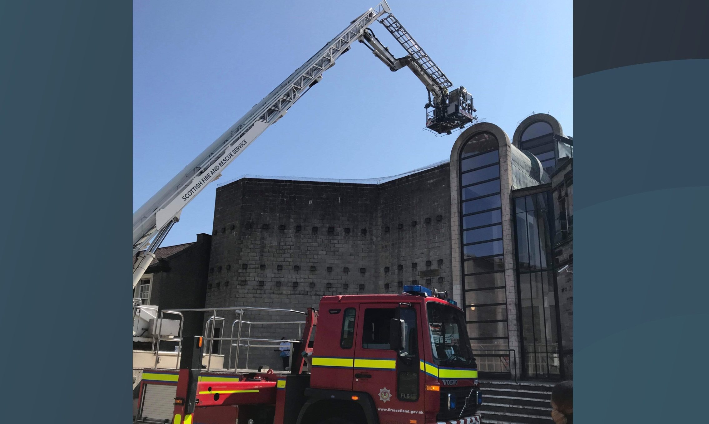 Firefighters at Kirkcaldy Sheriff Court.