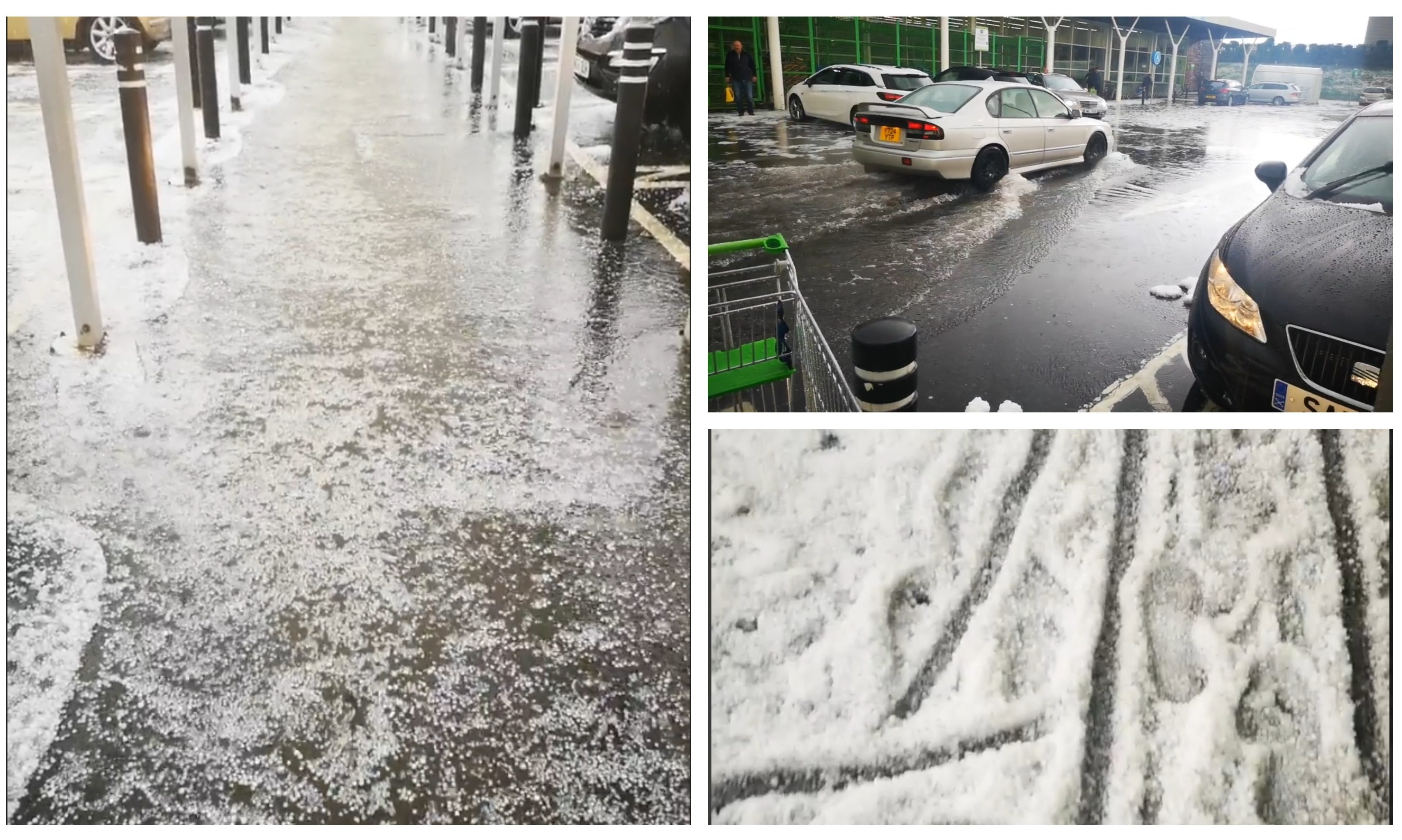 The hailstorm hit Glenrothes on Tuesday.