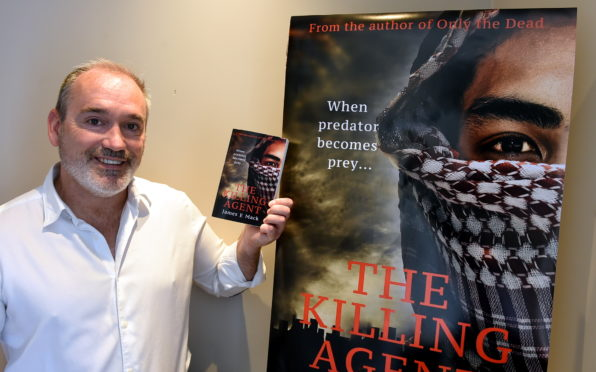 """Author James Mackenzie from St Cyrus is launching his third novel, """"The Killing Agent""""."""