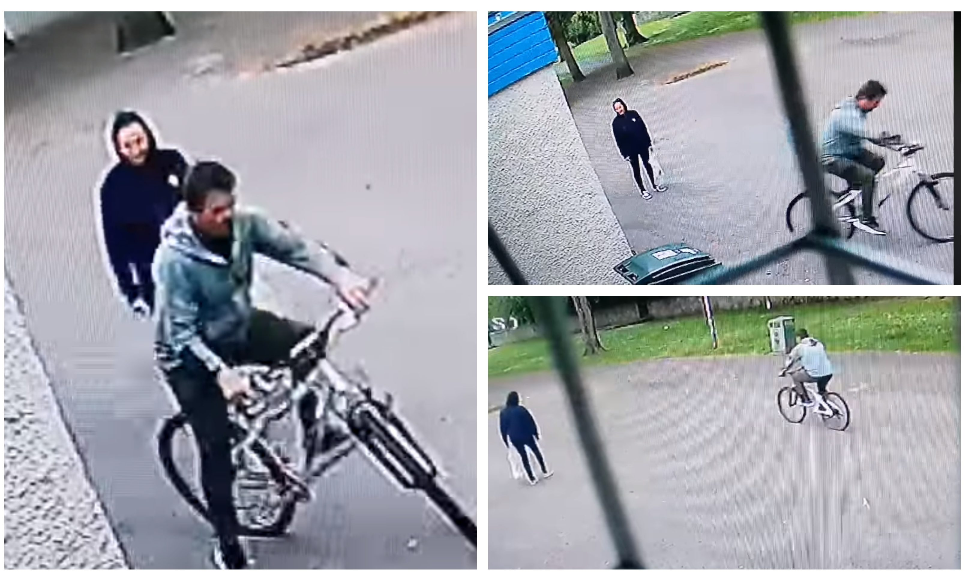 The moment the thieves took the bicycle from South Inch, Perth.