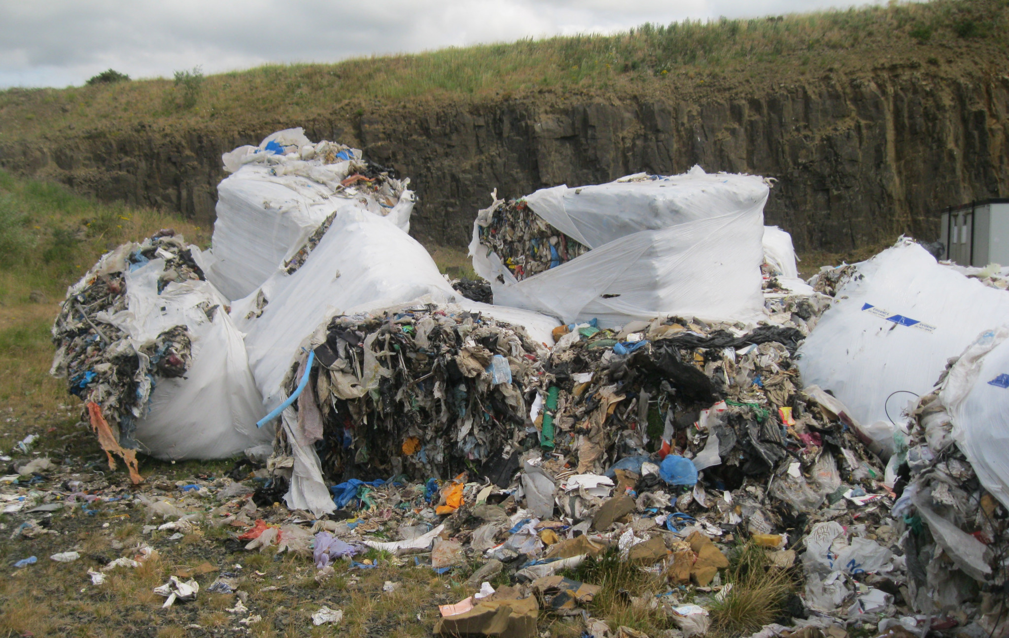 Heaps of waste was found in Fife earlier this year.