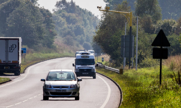 Speed cameras, such as these ones near Bankfoot, have been credited with helping reduce the number of crashes on the A9 north of Perth.