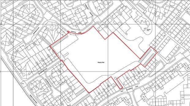 The development area.