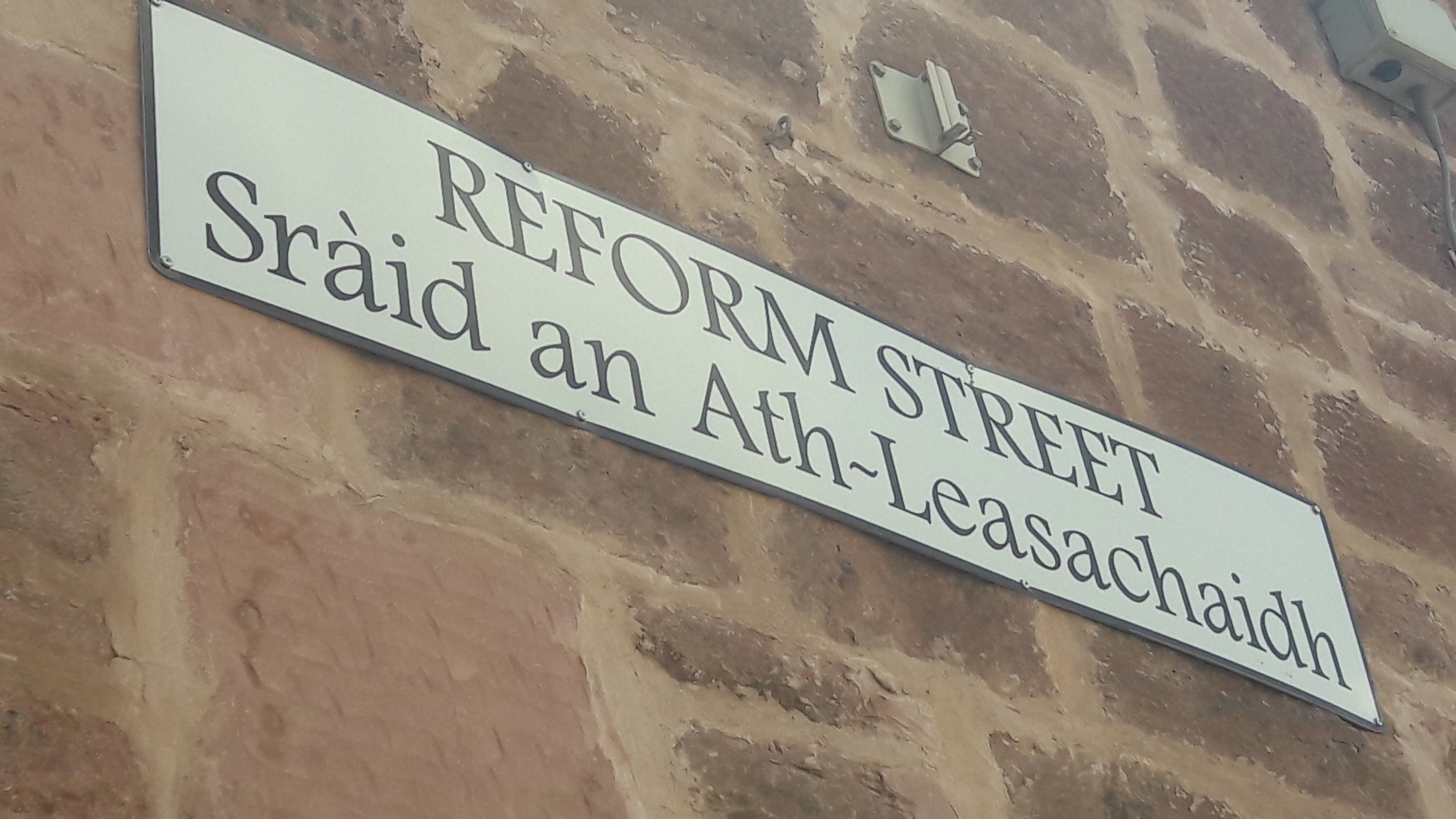 More street signs with Gaelic translation, like this one in Kirriemuir, could appear under the plan