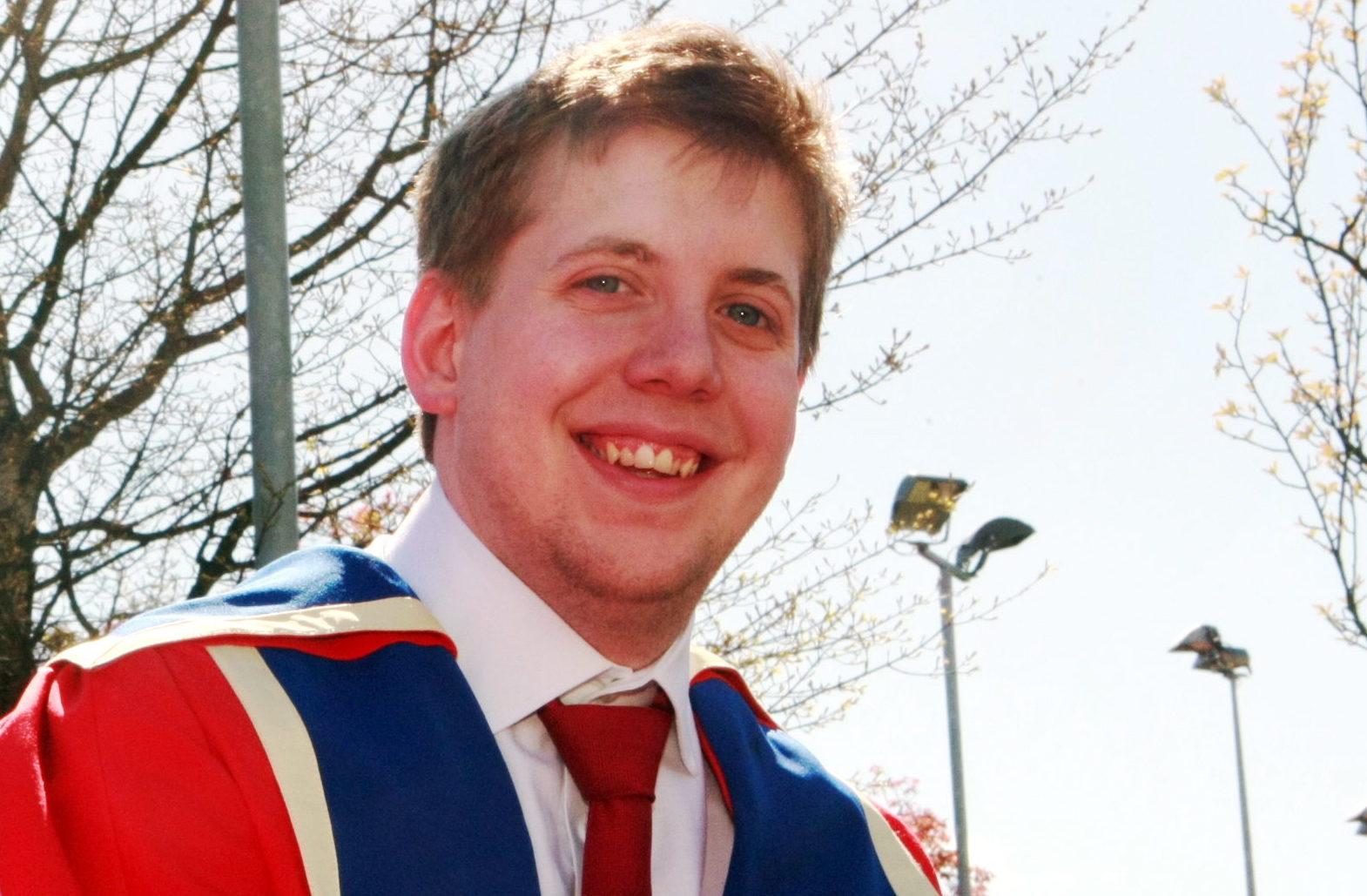 Tim Hustler during his time at Dundee University.