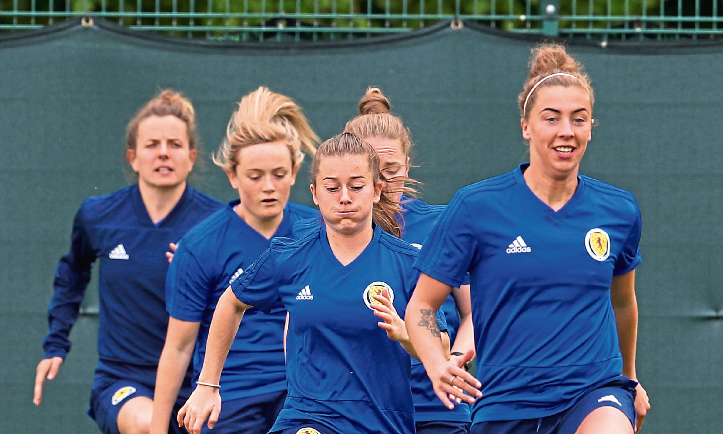 Scotland players during the training session at Oriam, Edinburgh.