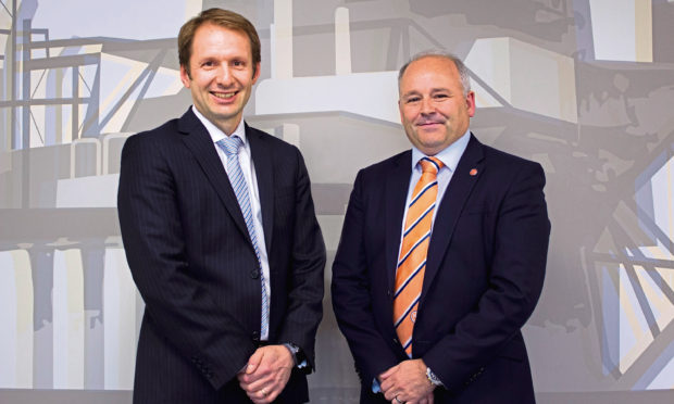 Bogi Vang, deputy country manager UK & senior financial adviser at DNO North Sea and Phil Milton, chief executive of Well-Safe Solutions.