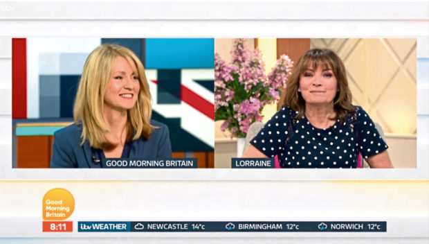 Esther McVey and Lorraine Kelly,