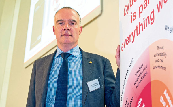 Richard Holmes, vice president of cyber security services at CGI UK. Picture: Kim Cessford