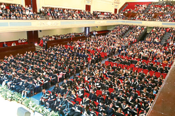 The graduations usually take place in the Caird Hall.
