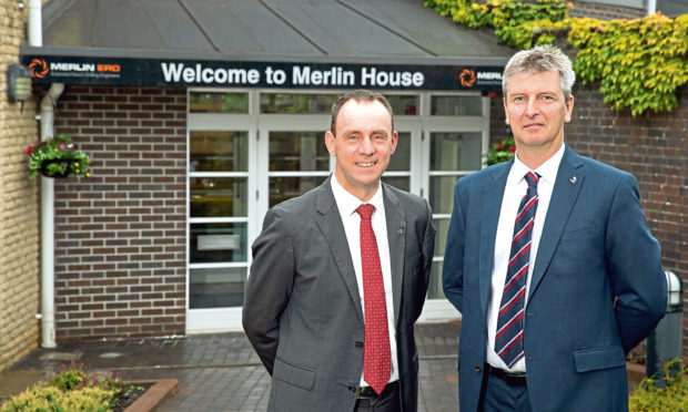 Merlin ERD chief executive Iain Hutchison and incoming boss Ron Ramage.