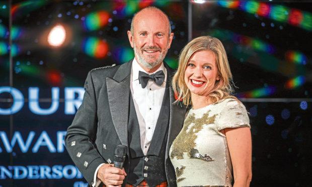 Fred MacAulay and Rachel Riley at last years awards.