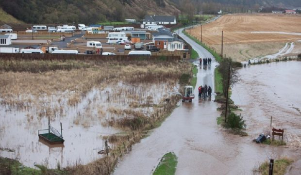 A previous flooding incident at the North Esk Park site.