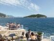 Bridget at the Buza cliff-side bar, Dubrovnik.
