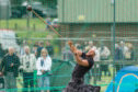 Vlad Tulacek in action at Cupar Highland Games.