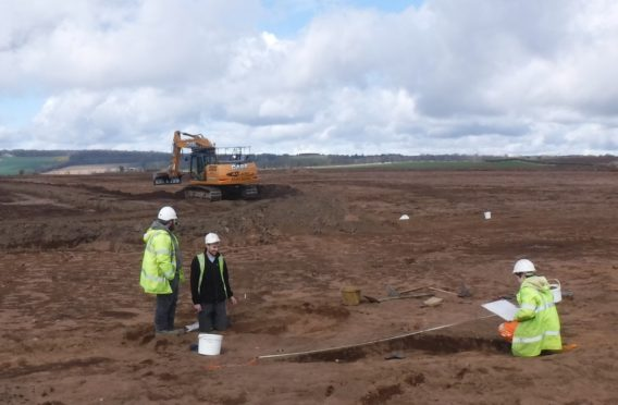 Earthworks are ongoing at the Pitskelly site