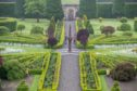 Scotland's oldest Obelisk Sundial, dating from 1630 and featured in the Outlander TV series is reinstated as the centrepiece of Drummond Castle Gardens