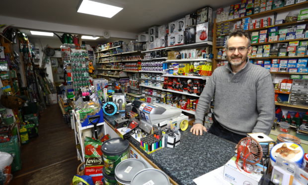 The Carnoustie Fobel Shop was targeted.